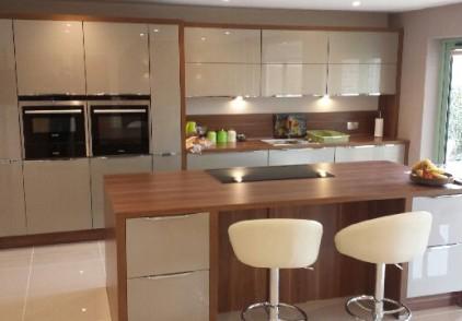 Xeno Champagne High Gloss Kitchen – Sandy, Bedfordshire
