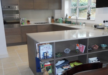 Veneered Smoked Oak Kitchen – Tring, Hertfordshire