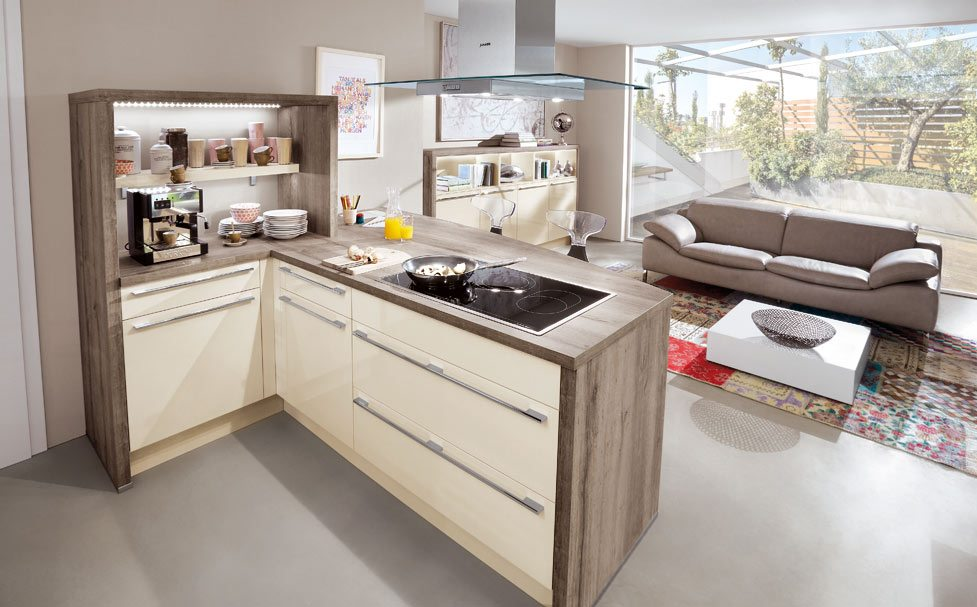 Nobilia Flash 452 Ivory High Gloss German Kitchen