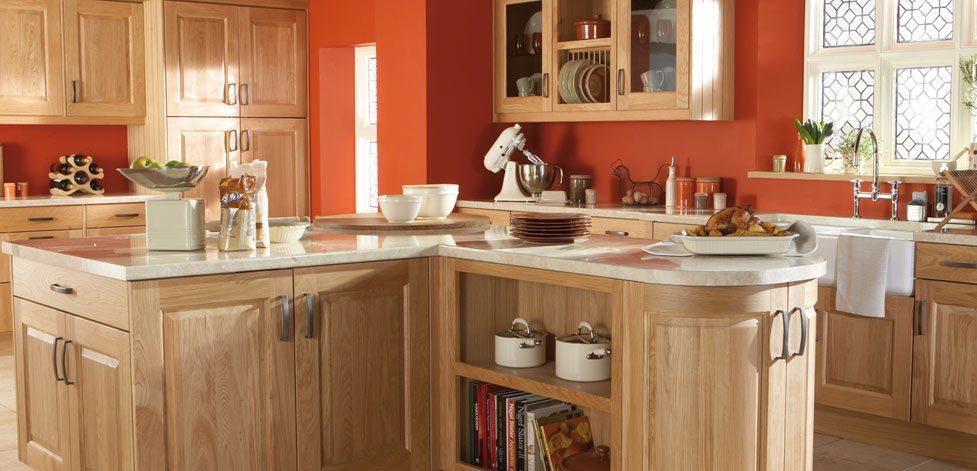 Kinsale Natural Oak - a Classic, Solid Oak English Shaker