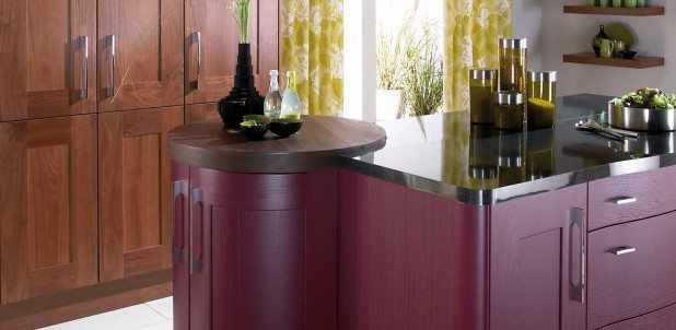 Lansdowne Aubergine Painted Shaker kitchen
