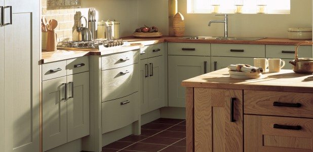 Lansdowne Painted Shaker English Made Kitchen in Sage