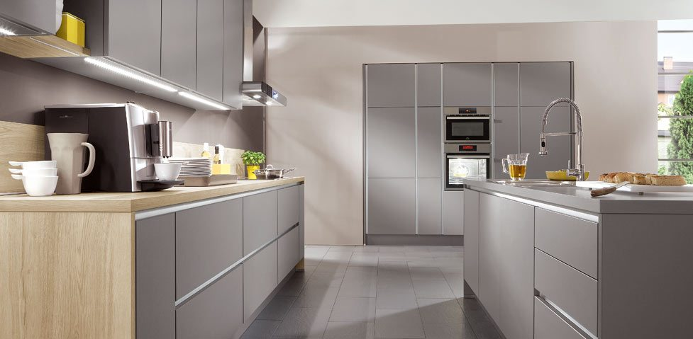 Nobilia Laser 413 German Kitchen in Mineral Grey