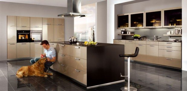 Nobilia Xeno Champagne High Gloss German Kitchen