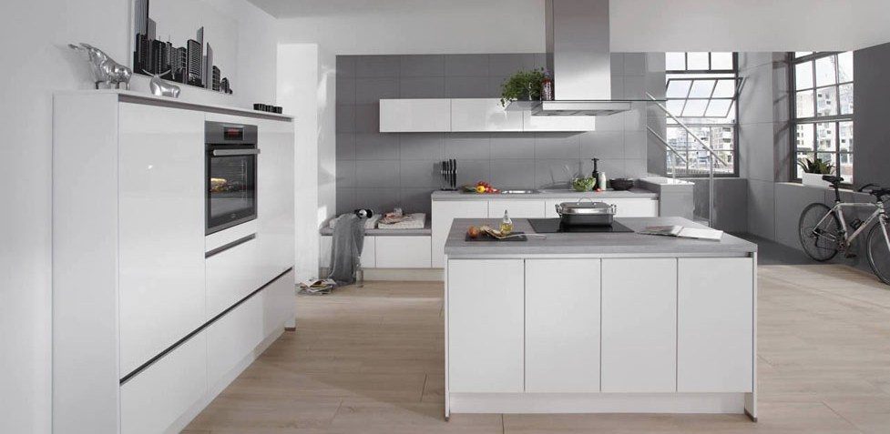 Nobilia Focus 469 Premium white ultra high gloss handle-less kitchen