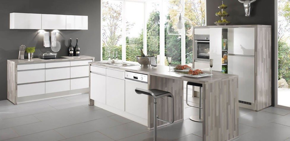 Nobilia Primo 641 White High Gloss Handle-less kitchen