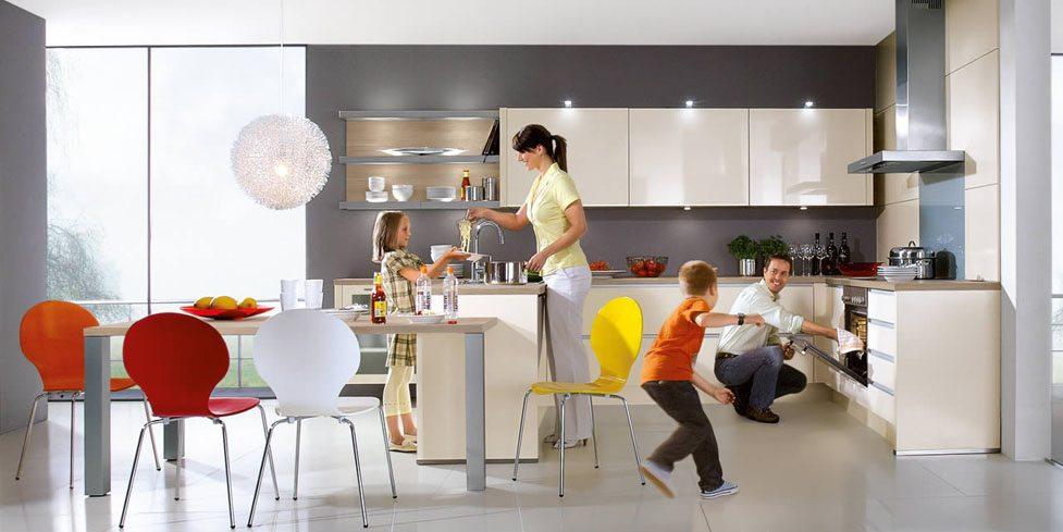 Nobilia Primo 702 Ivory High Gloss Handle-less kitchen