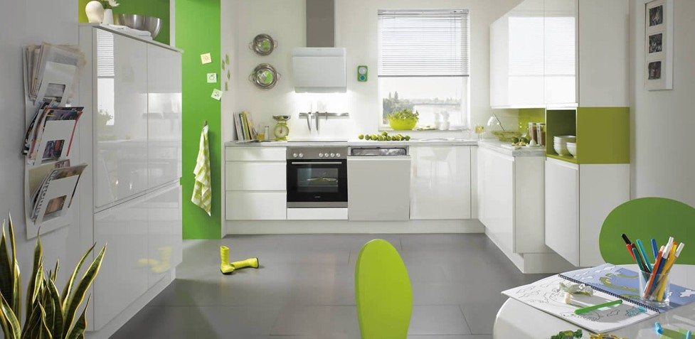 Nobilia Pura 834 Lacquer-white high gloss handle-less German kitchen
