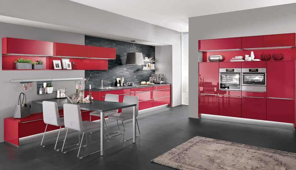 Nobilia Flash (501) Red High Gloss Lacquered