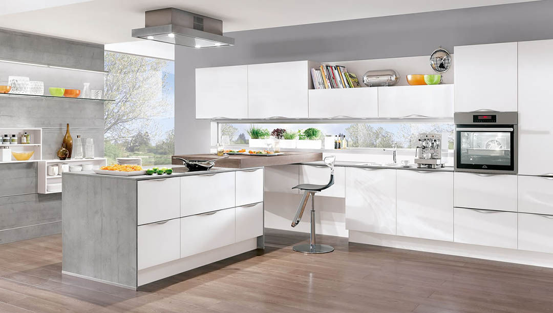 Nobilia Laser Alpine White 427 German Kitchen