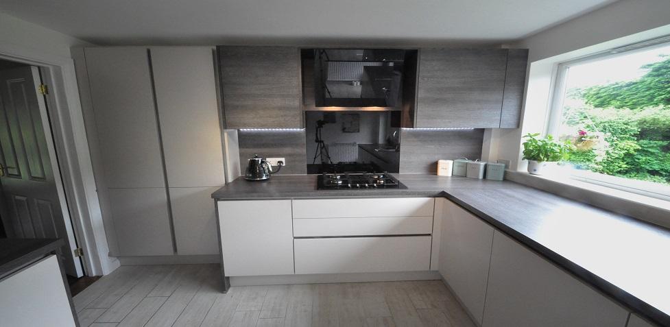 i home kitchens nobilia kitchens german kitchens nobilia line n kitchen in matt sand. Black Bedroom Furniture Sets. Home Design Ideas