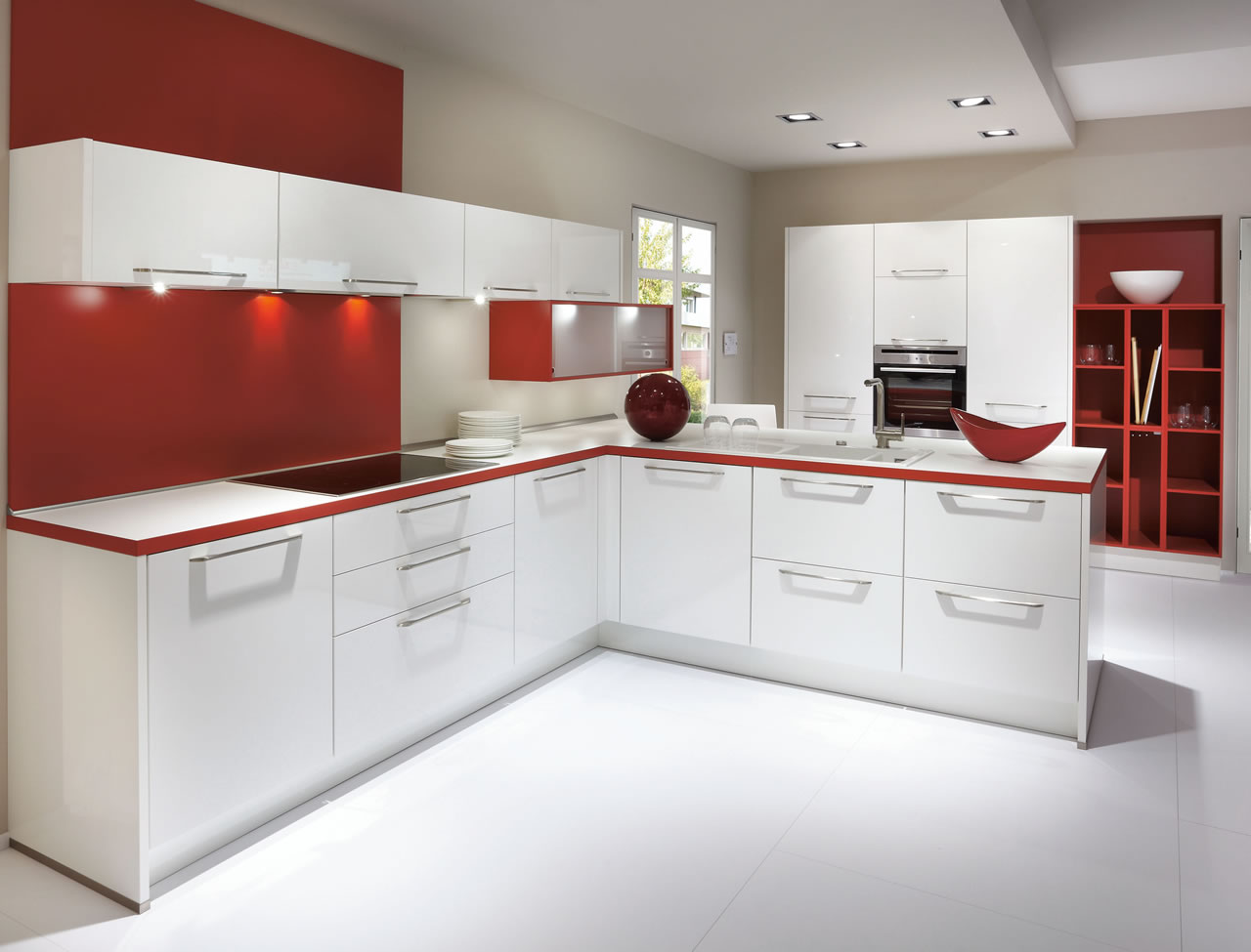 Nobilia Flash 450 White High Gloss Kitchen
