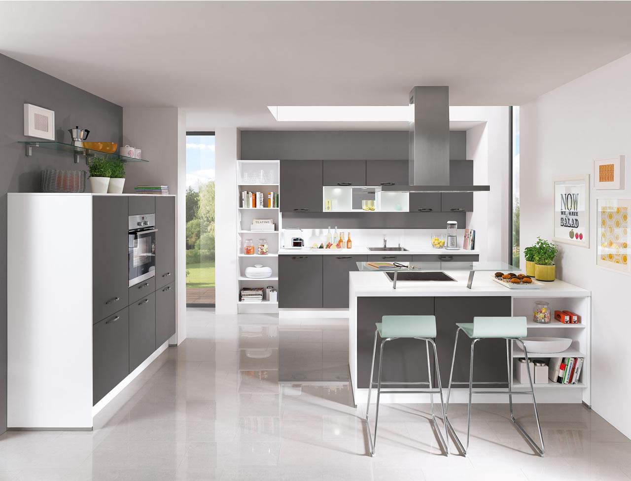 Nobilia Laser 428 Slate Grey German Kitchen
