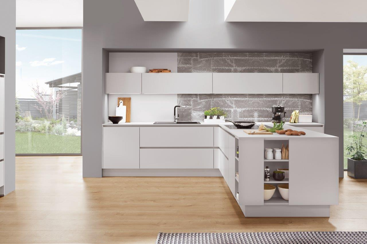 Nobilia Kitchens Fashion 171 Honed Satin Grey