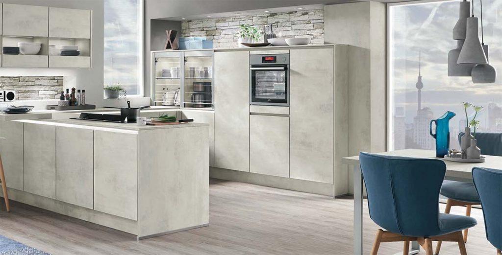Nobilia Riva 891 White Concrete