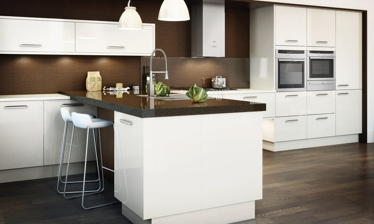 Avant Alabaster Gloss Kitchen