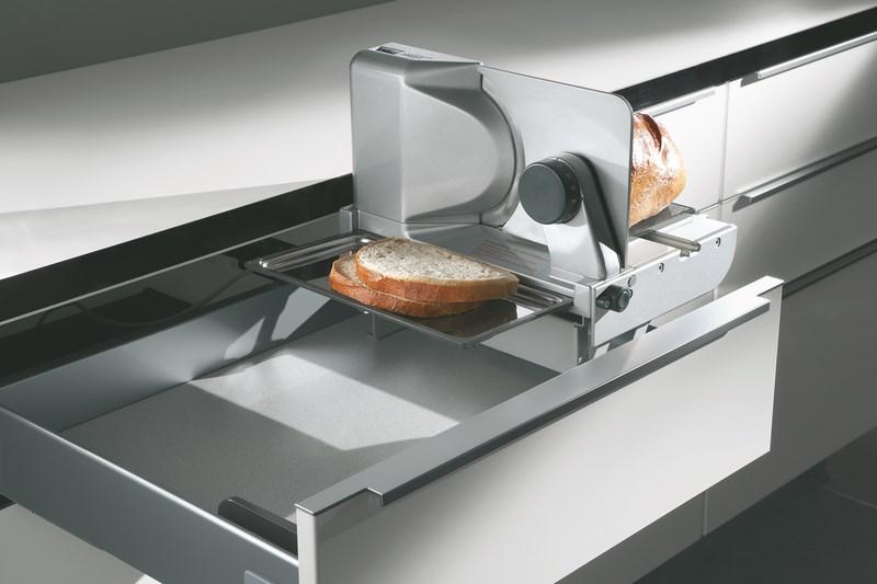 Nobilia German Kitchens Electric drawer slicer