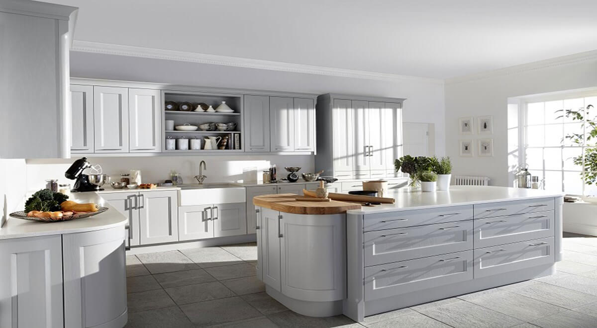 I Home Kitchens Nobilia Kitchens German Kitchens Kew English Shaker Kitchen In Painted