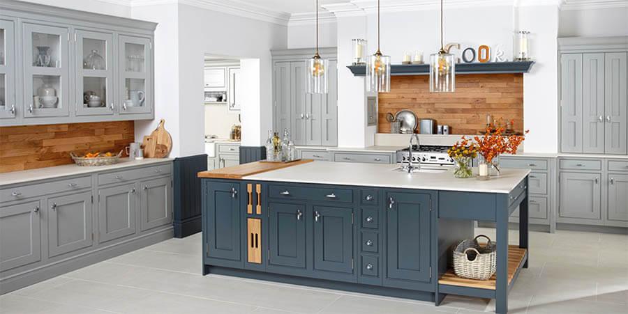 Seal Grey In Frame English Shaker Kitchen, Sealing Painted Kitchen Cabinets Uk