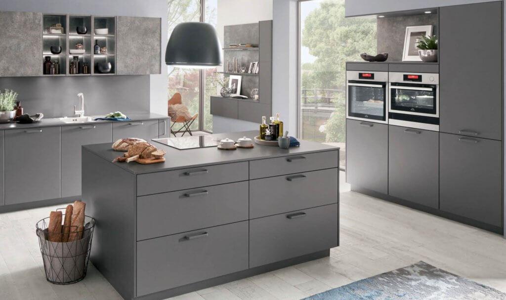 Nobilia-Touch-slate-grey-334-supermatt German kitchen