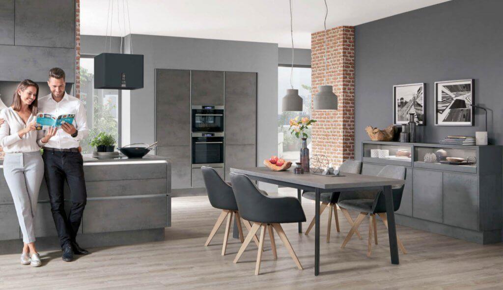 Nobilia-Riva-889 Concrete Slate Grey German kitchen