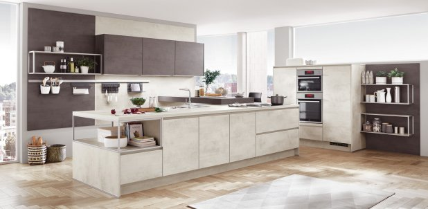 Nobilia Riva 891 White Concrete German Kitchen